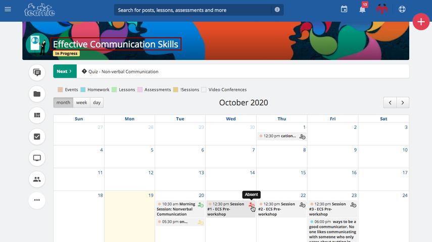 (13) Newsfeed | Effective Communication Skills | Teamie Demo
