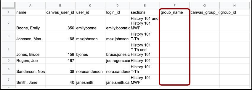 Edit Course Roster CSV File