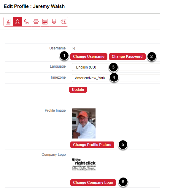 The User Profile Tab
