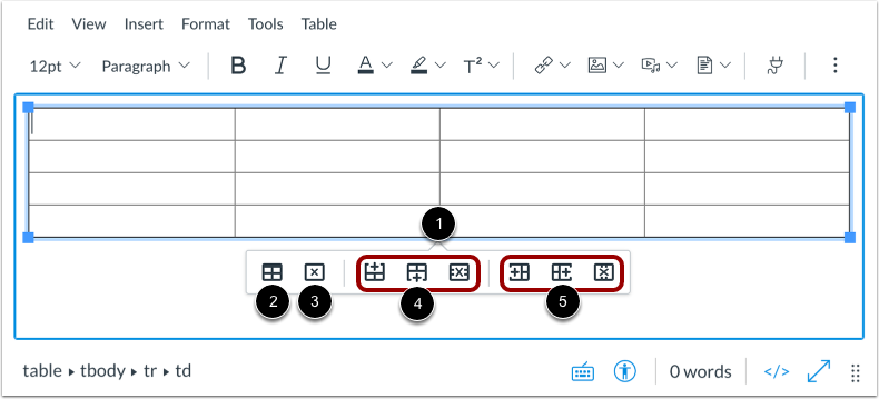 View Table Layout Tools