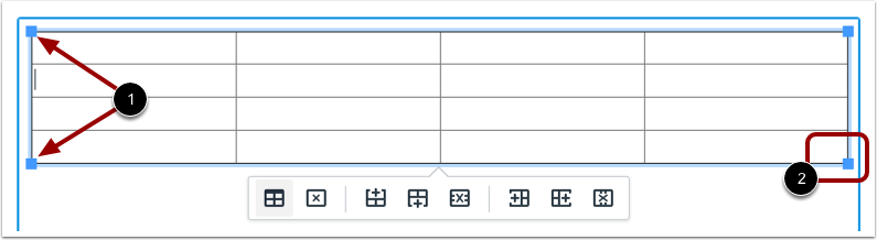 Manually Edit Table size