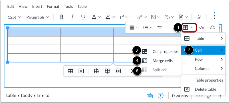 View Cell Format Options
