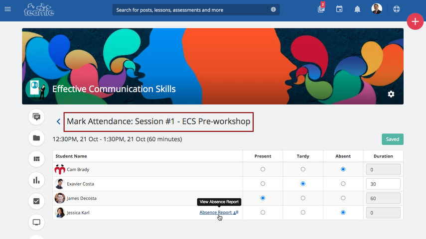 Newsfeed | Effective Communication Skills | Teamie Demo