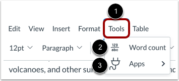 View Tools Menu