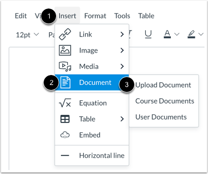 Open Document Upload Tool from Menubar