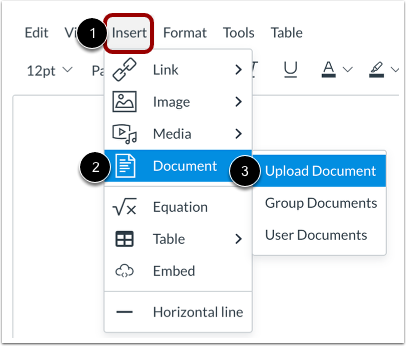 Upload Document from Menubar