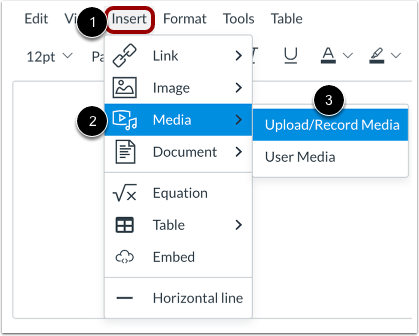 Record Media from Menubar