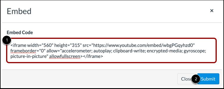 Enter Embed Code
