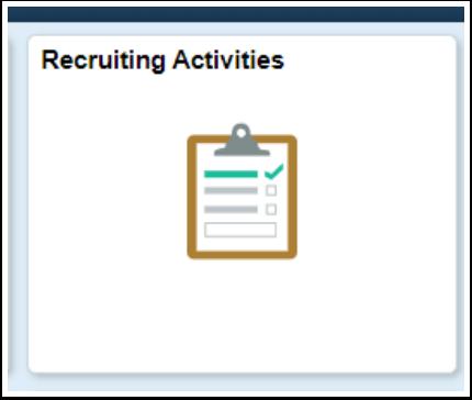 Recruiting Activities tile