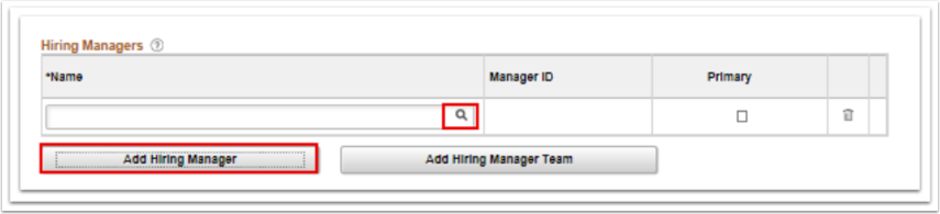 Hiring Managers page