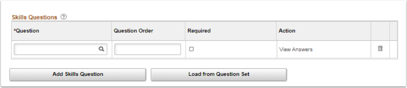 Skills Questions page