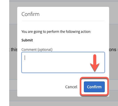 Arrow pointing to Confirm button