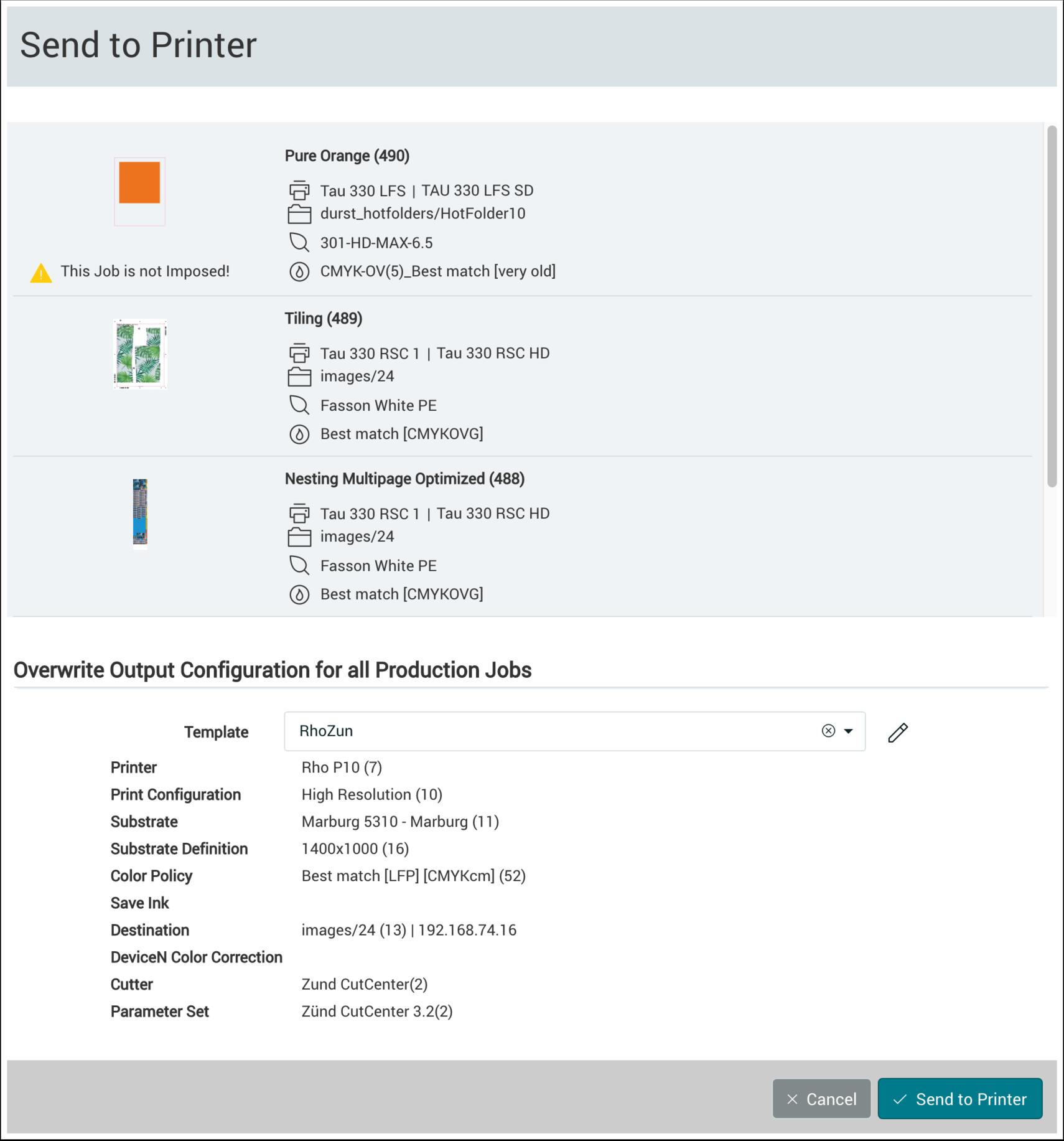 PMS WebGui :: Production Jobs