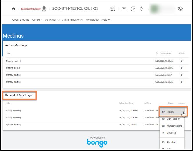 Virtual Classroom - SOO-BTH-TESTCURSUS-01 - Google Chrome