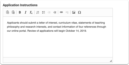 Provide instructions for applying (required documents, formats, etc.)