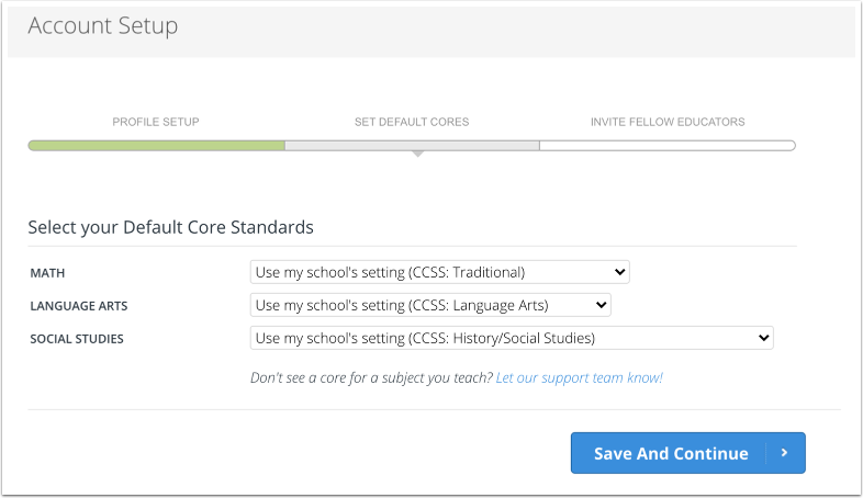Select Core Standards