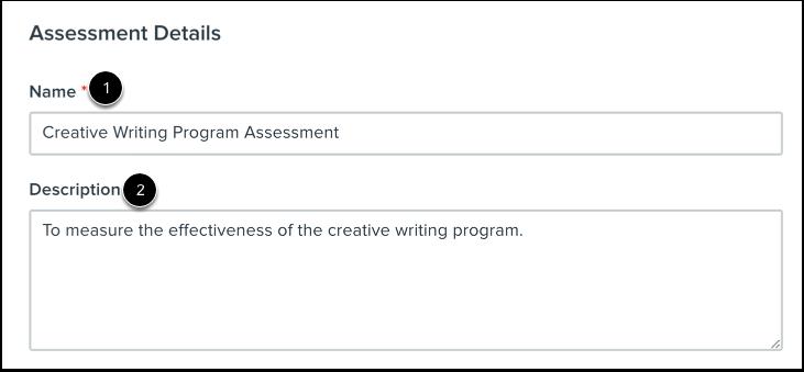 Add Assessment Details
