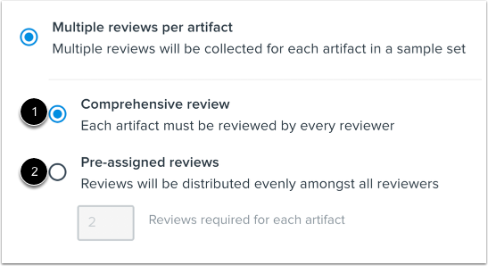Set Multiple Review Strategy