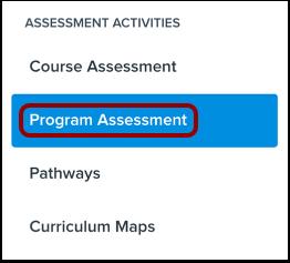 View Program Assessments