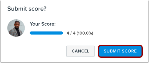 Confirm Score Submission