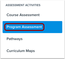 View Program Assessments