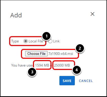 Upload Application File
