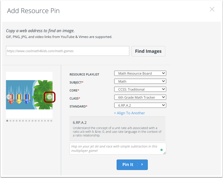 Select Pin Details