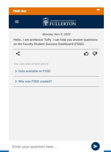 FSSD Bot screen