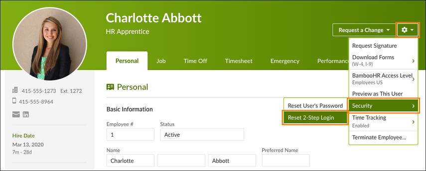 Charlotte Abbott - Personal