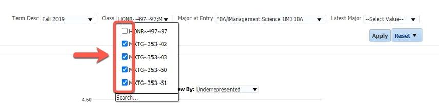 Box highlighting Class options