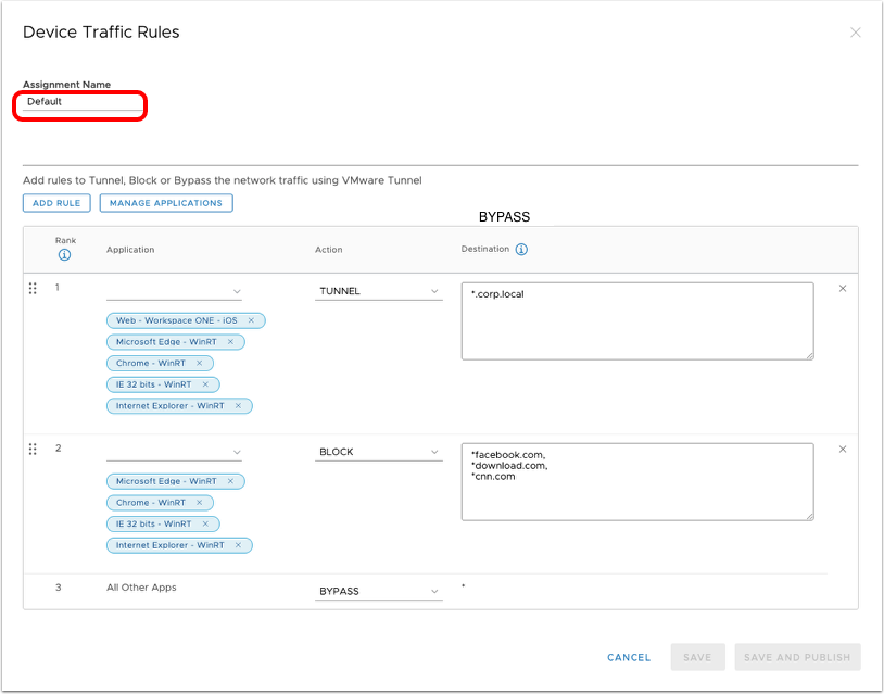 Groups & Settings > Configurations