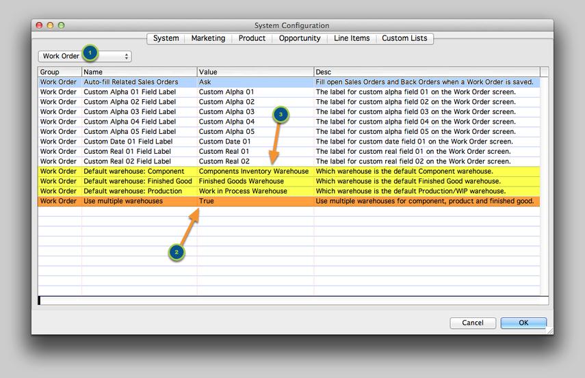 System Configuration Setting