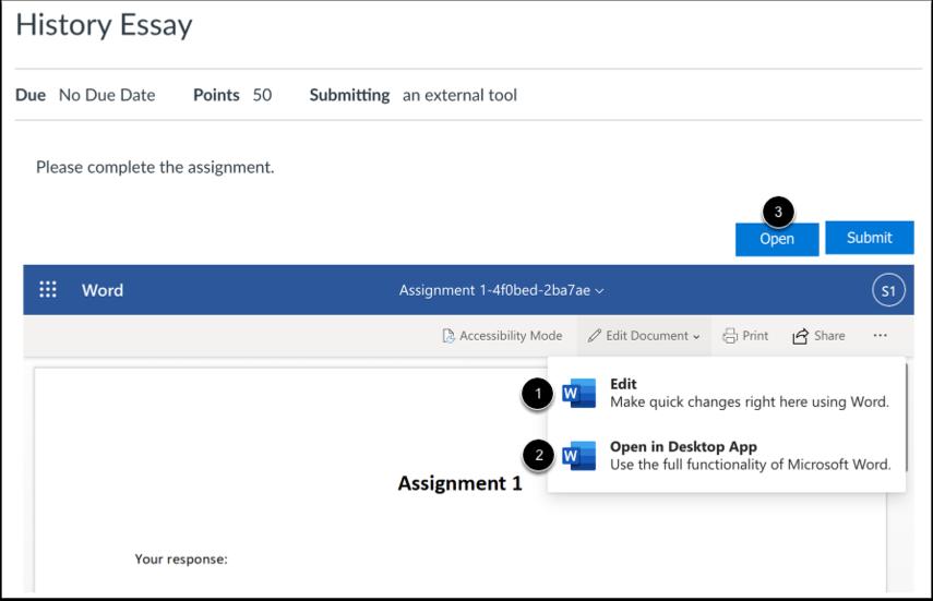 Open Document Editor