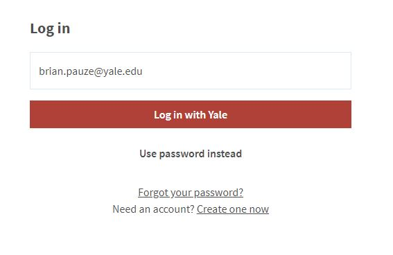 "Poll Everywhere log in displaying ""log in with Yale"""