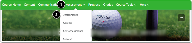 navigate to assignments. Click on Assessment and the assignments.