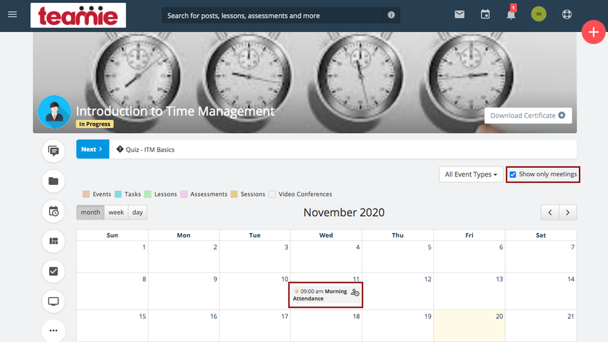(1) Materials | Introduction to Time Management | Teamie Next