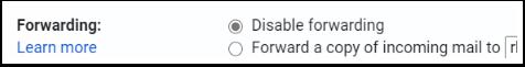 Disable forwarding detail