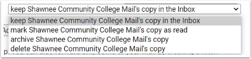 forwarded message inbox options