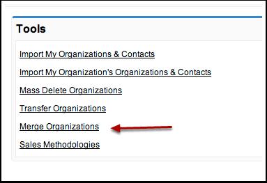 Organization Tab