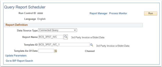 Query report scheduleer page partially completed