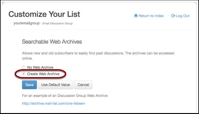 Toggle the radio button for Create Web Archive