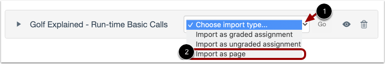 Choose Import Type