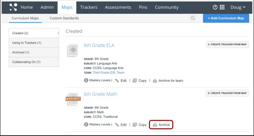 Curriculum Map List