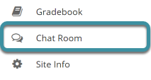 Chat room tool in the Tool Menu