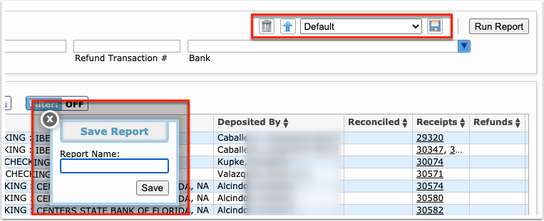 Deposit Report