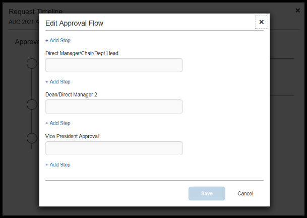 Approvers. There are a total of three approvers that have been included in the approval flow.