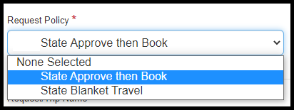 Click on State Approve then Book policy.