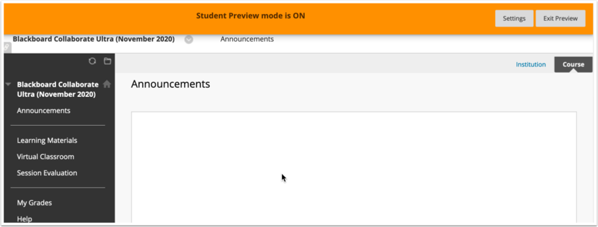 Announcements – Blackboard Collaborate Ultra (November ...