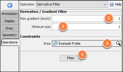 Apply derivative filter
