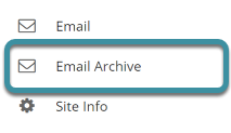 Select Email Archive from your site's tool menu